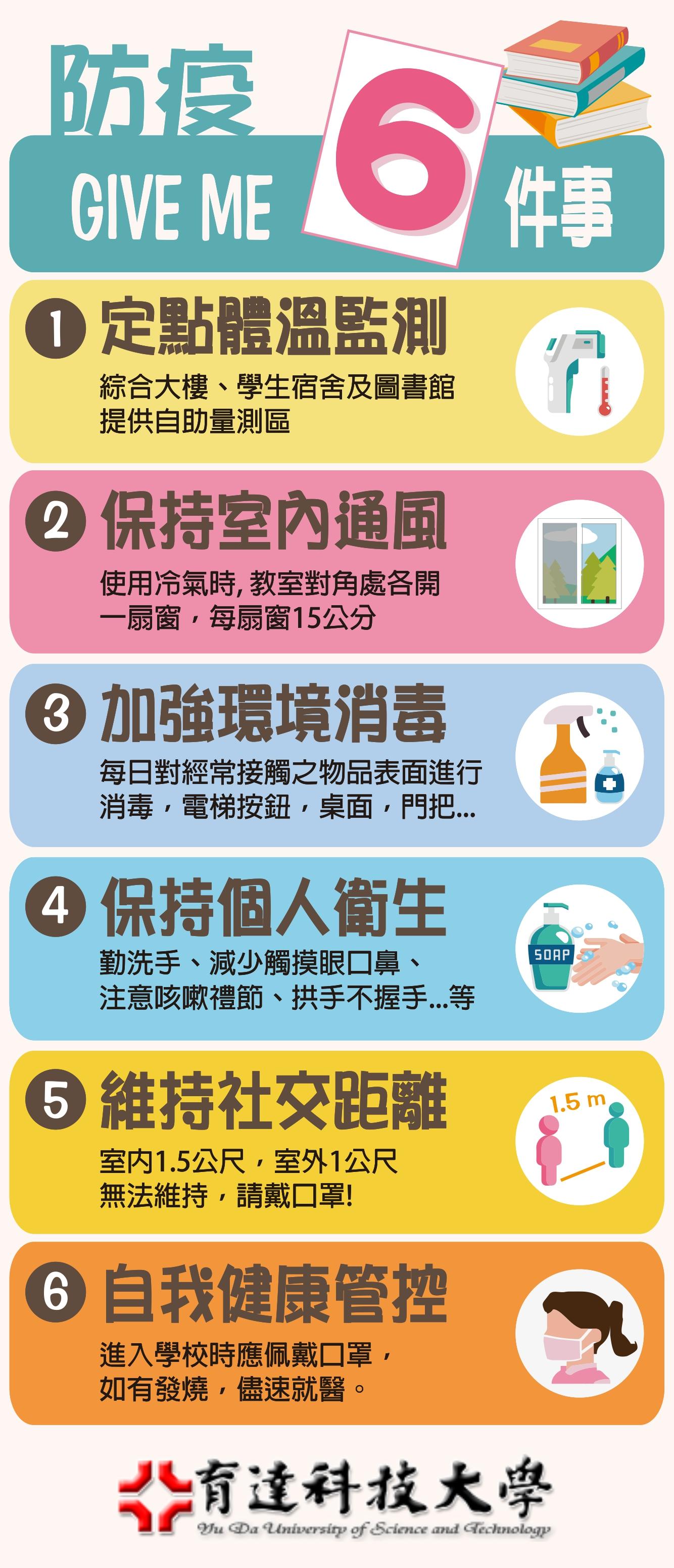 開學防疫六件事